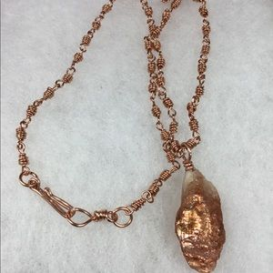 UNISEX - Raw Golden Sunstone On Solid Copper Chain